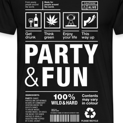 Party Fun packaging label Paket Versandetikett