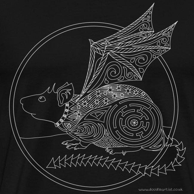 Flying rat drawing
