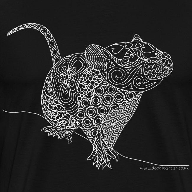 Cute rat drawing