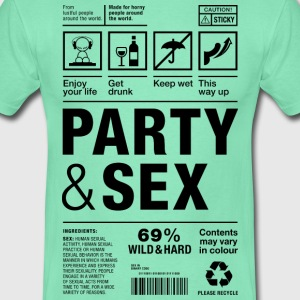 Party Sex packaging label Paket Versandetikett - Männer T-Shirt