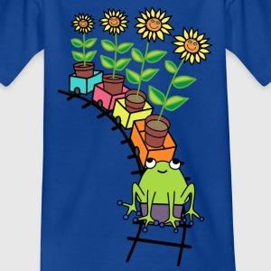 Frog on train t-shirt for kids - Kids' T-Shirt