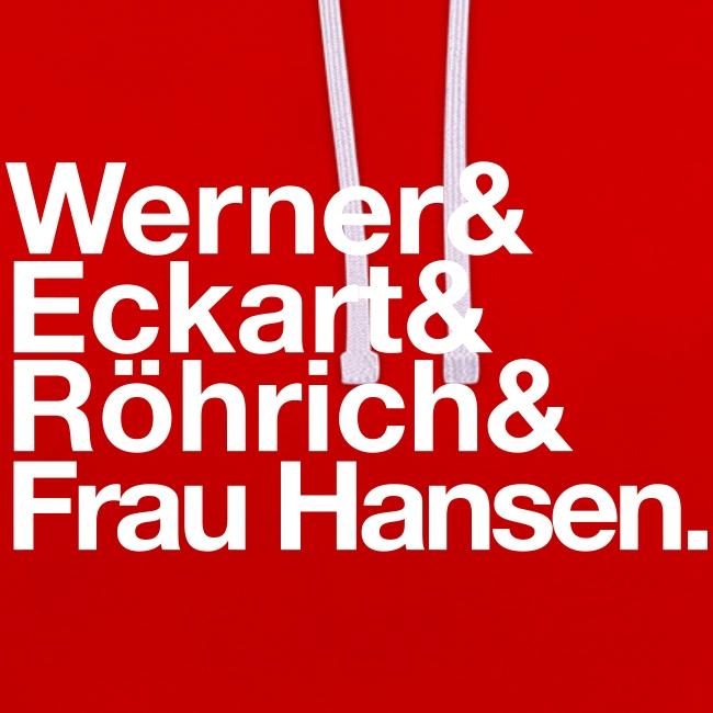 Werner & Eckart Hoody rot
