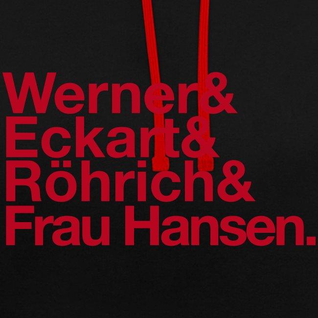 Werner & Eckart Hoody schwarz/rot