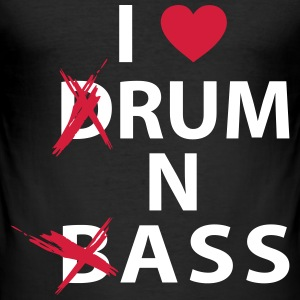 I ♥ Rum n Ass - Männer Slim Fit T-Shirt