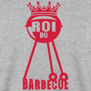 roi barbecue couronne bbq barbec 2 Sweat-shirts - Sweat-shirt Homme