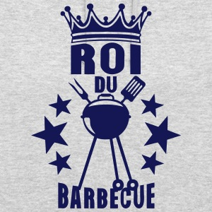 roi barbecue couronne bbq barbec barbeuk Sweat-shirts - Sweat-shirt à capuche unisexe