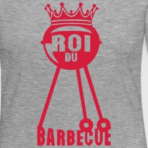 roi barbecue couronne bbq barbec 2 Manches longues - T-shirt manches longues Premium Femme