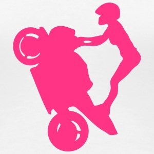 Smash stunts woman motorbike 32 T-Shirts - Women's Premium T-Shirt