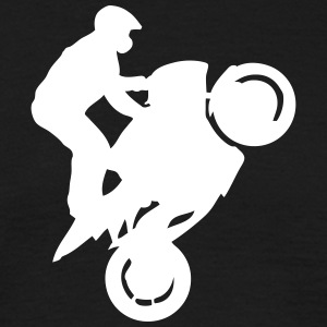 Smash stunts man motorcycle 12345 T-Shirts - Men's T-Shirt