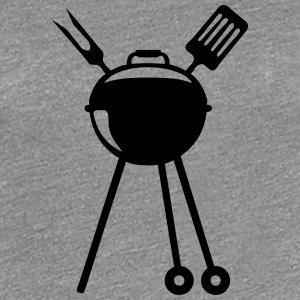 Barbecue bbq logo Pic barbeuk 2608 T-Shirts - Women's Premium T-Shirt