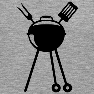 barbecue bbq logo pique barbeuk 2608 Manches longues - T-shirt manches longues Premium Homme