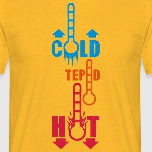 thermometer temperature cold hot tepid T-Shirts - Men's T-Shirt