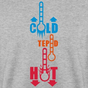 thermometer temperature cold hot tepid Hoodies & Sweatshirts - Men's Sweatshirt