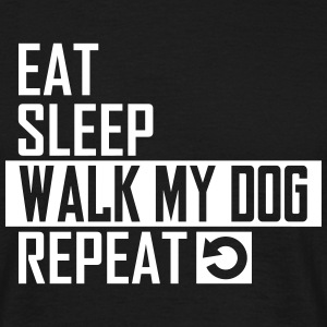 walk my dog T-Shirts - Männer T-Shirt