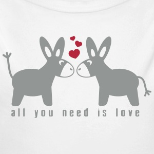 All you need is love Bodys Bébés - Body bébé bio manches longues