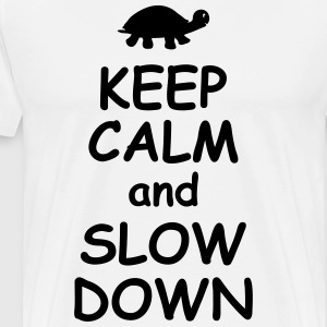 Keep calm and slow down   jogging fitness Maraton  T-shirts - Premium-T-shirt herr