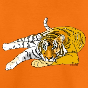 liegender Tiger - Kinder Premium T-Shirt