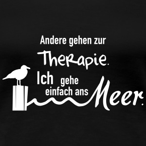 Therapie am Meer T-Shirts - Frauen Premium T-Shirt