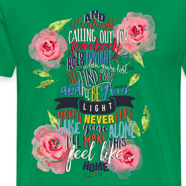 Home (with Roses) Mens Shirt