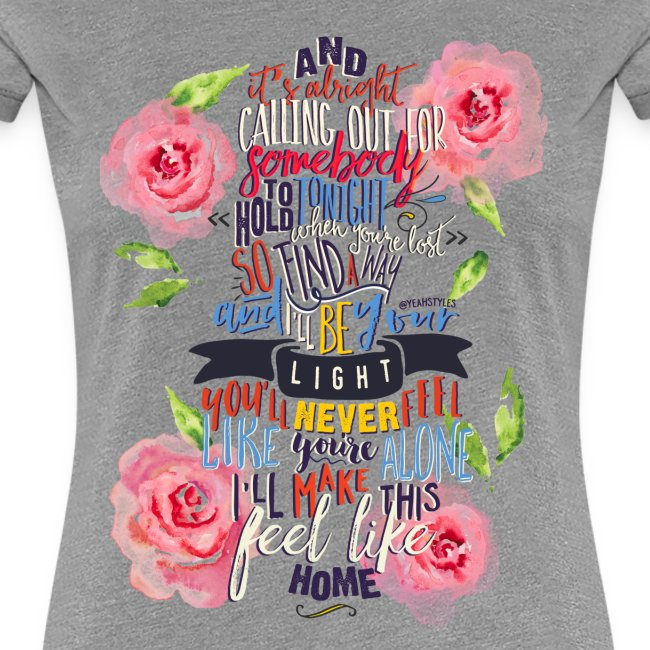 Home (with Roses) Womens Shirt