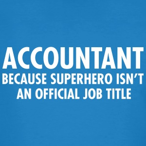 Accountant - Superhero T-Shirts - Männer Bio-T-Shirt
