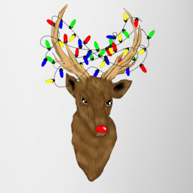 Stag Rudolph Mens mug