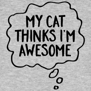 My Cat Thinks I'm Awesome T-Shirts - Männer Bio-T-Shirt