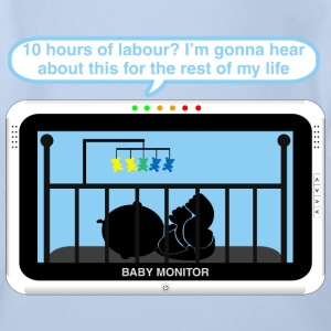 Boy baby monitor - Labour Baby Bodysuits - Organic Short-sleeved Baby Bodysuit
