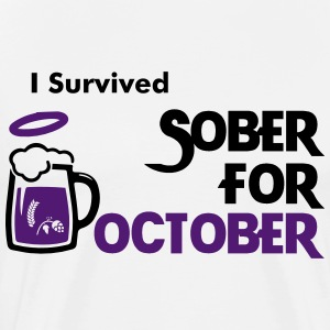 I Survived Sober For October! - Men's Premium T-Shirt