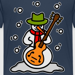 Snowman Guitar - white outline Shirts - Teenage Premium T-Shirt