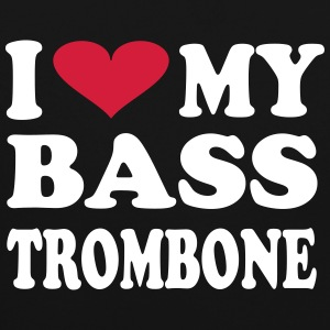 I Love My Bass Trombone - Contrast Colour Hoodie