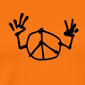 Peace Double V Tee shirts - T-shirt Premium Homme