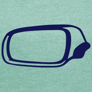 Side mirror 1 T-Shirts - Women's T-shirt with rolled up sleeves