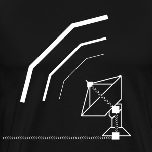 Calling All Broadcasts Satellite Dish T-shirt - Men's Premium T-Shirt