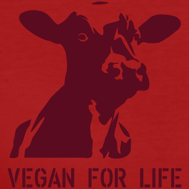 """T-Shirt """"vegan for life"""" bio Girlie"""
