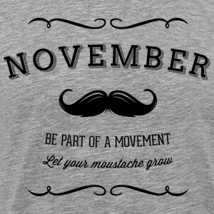 November Moustache T-shirts - Herre premium T-shirt