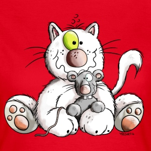 Cute Cat and Mouse T-Shirts - Women's T-Shirt