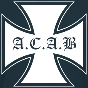 acab iron cross - Männer T-Shirt