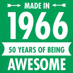 Made In 1966 . 50 Years Of Being Awesome T-shirts - Mannen contrastshirt