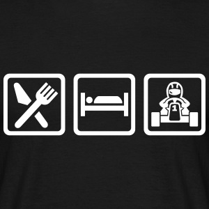 Eat sleep Kart T-Shirts - Männer T-Shirt