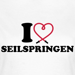 I love Seilspringen T-Shirts - Frauen T-Shirt
