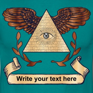 Illuminati ad your text T-Shirts - Herre-T-shirt