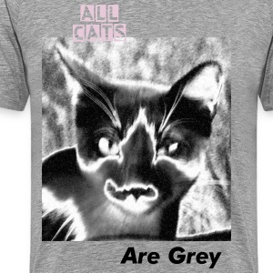 a b/w cat - Men's Premium T-Shirt