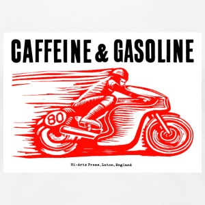 Girls' White Caffeine & Gasoline Tee Shirt,  - Women's Premium T-Shirt