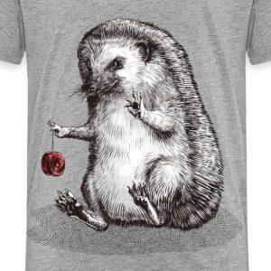 Heather grey hedgehog Shirts - Kids' Premium T-Shirt