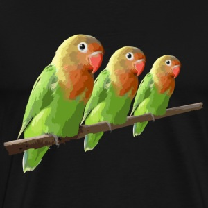 Three colorful parrots T-Shirts - Men's Premium T-Shirt