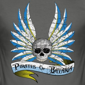Pirates of Bavaria Vintage Edition T-Shirts - Männer Slim Fit T-Shirt