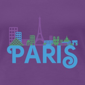 Skyline Paris T-Shirts - Frauen Premium T-Shirt