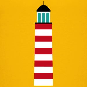Lighthouse in red white Shirts - Kids' Premium T-Shirt
