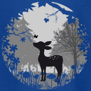 Fawn with butterfly Shirts - Kids' T-Shirt